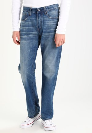 3301 LOOSE - Džíny Relaxed Fit - fleck denim