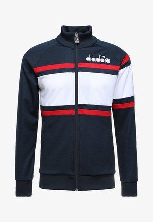 Training jacket - blue denim/optical white/tomato