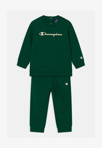 Champion - BASIC LOGO TODDLER CREWNECK SET UNISEX - Tracksuit - dark green - 0