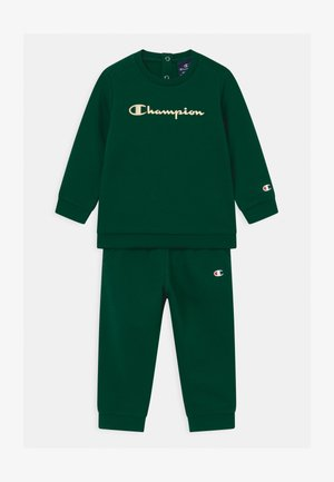 BASIC LOGO TODDLER CREWNECK SET UNISEX - Dres - dark green