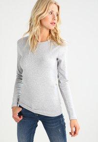 GAP - CREW TEE - Long sleeved top - heather grey - 0