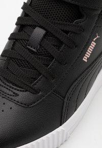Puma - CARINA MID UNISEX - Baskets montantes - black/rose gold/white - 5
