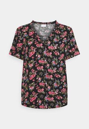 VICARE - Button-down blouse - black