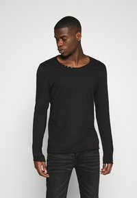 Jack & Jones - JJDETAIL  - Long sleeved top - black - 0
