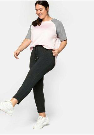 Pantalones deportivos - dunkelgrau meliert