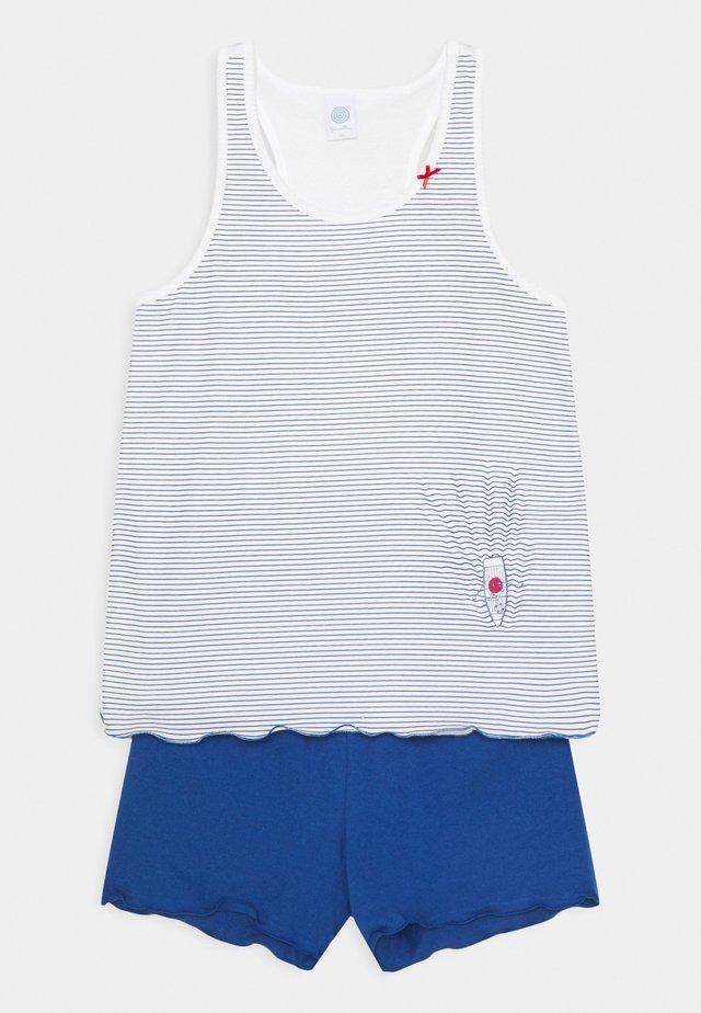 TEENS SHORT PRINT SET UNISEX - Pyjama - blau
