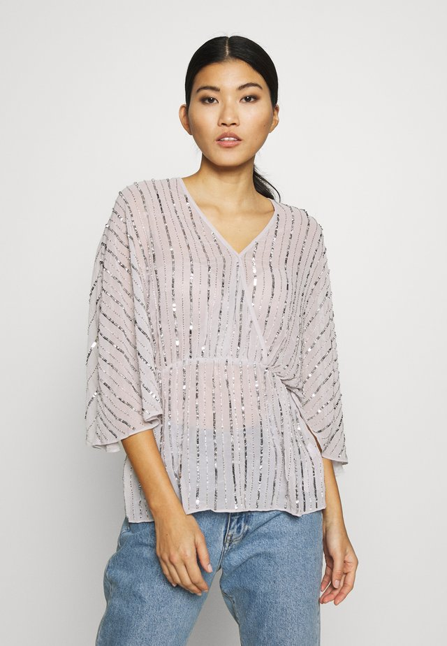 SEQUIN BATWING  - Blouse - silver