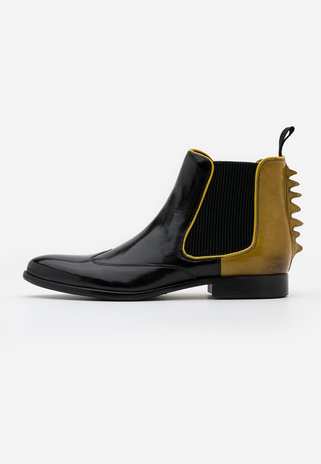 KEIRA - Ankle boots - black/fluo yellow