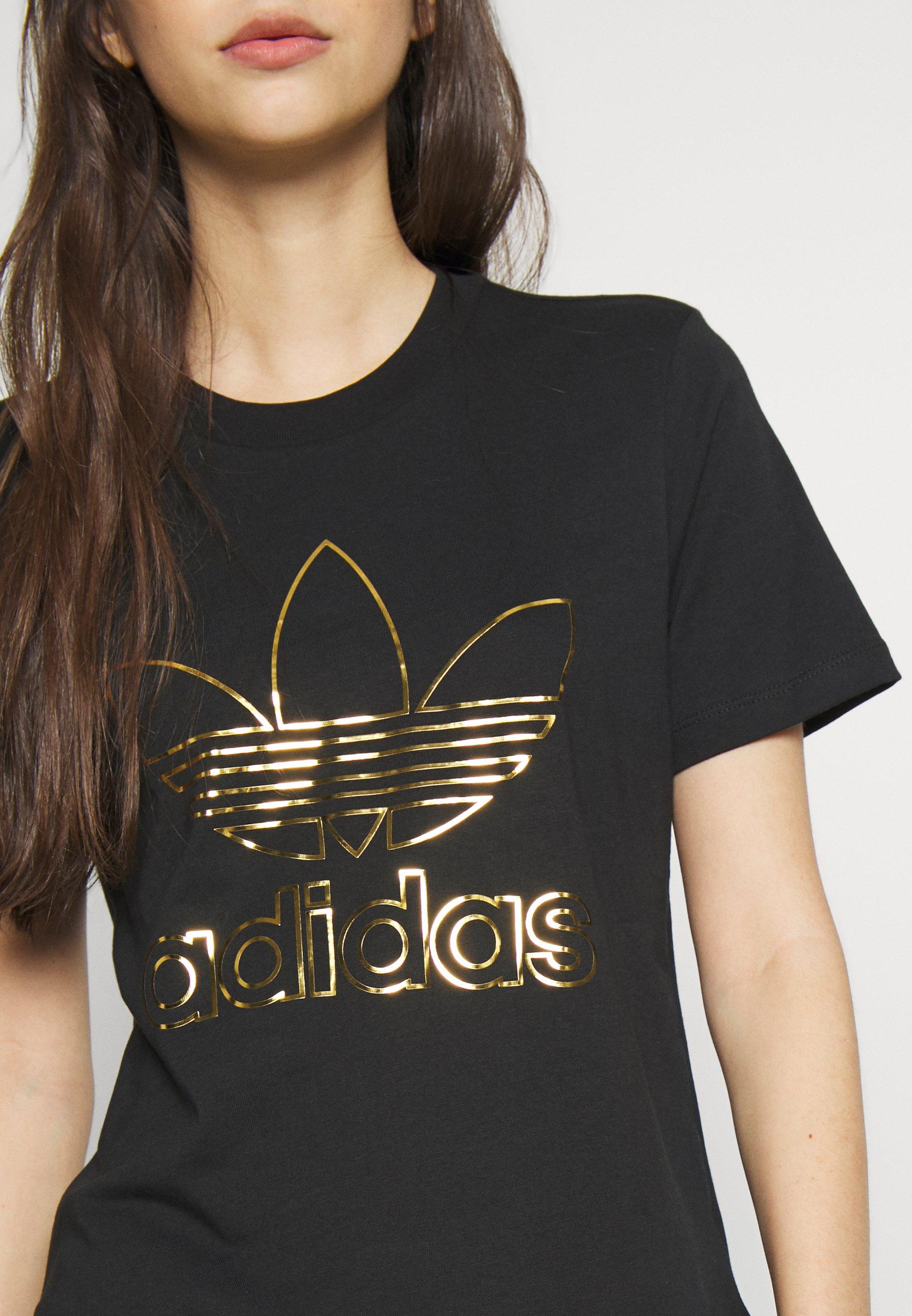 adidas Originals FAKTEN TREFOIL SHORT SLEEVE TEE - T-shirts med print - black