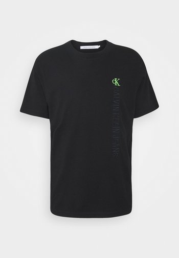 WASHED INSTITTEE UNISEX - T-shirt imprimé - black