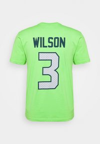 Fanatics - NFL RUSSELL WILSON SEATTLE SEAHAWKS ICONIC NAME & NUMBER GRAPHIC - Club wear - lime green - 1