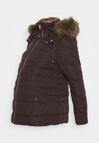 New Look Maternity - MEGAN FITTED PUFFER - Zimní bunda - dark burgundy - 0