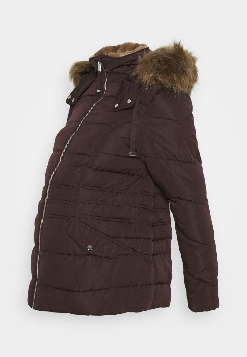 New Look Maternity - MEGAN FITTED PUFFER - Zimní bunda - dark burgundy