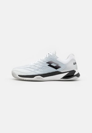 MIRAGE 100 CLY - Clay court tennis shoes - all white/navy blue/blue bay