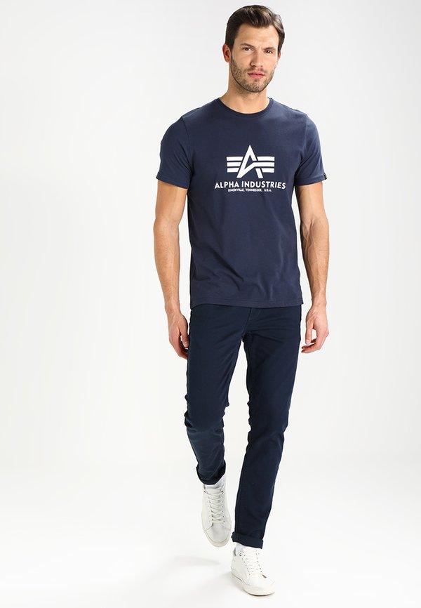 Alpha Industries RAINBOW - T-shirt z nadrukiem - navy/granatowy Odzież Męska GCQO
