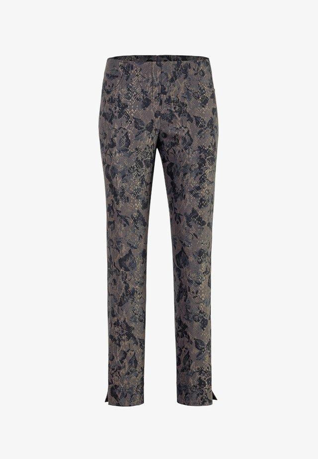 LOLI-742 19120 STRETCHHOSE BLUMENDRUCK - Trousers - blau