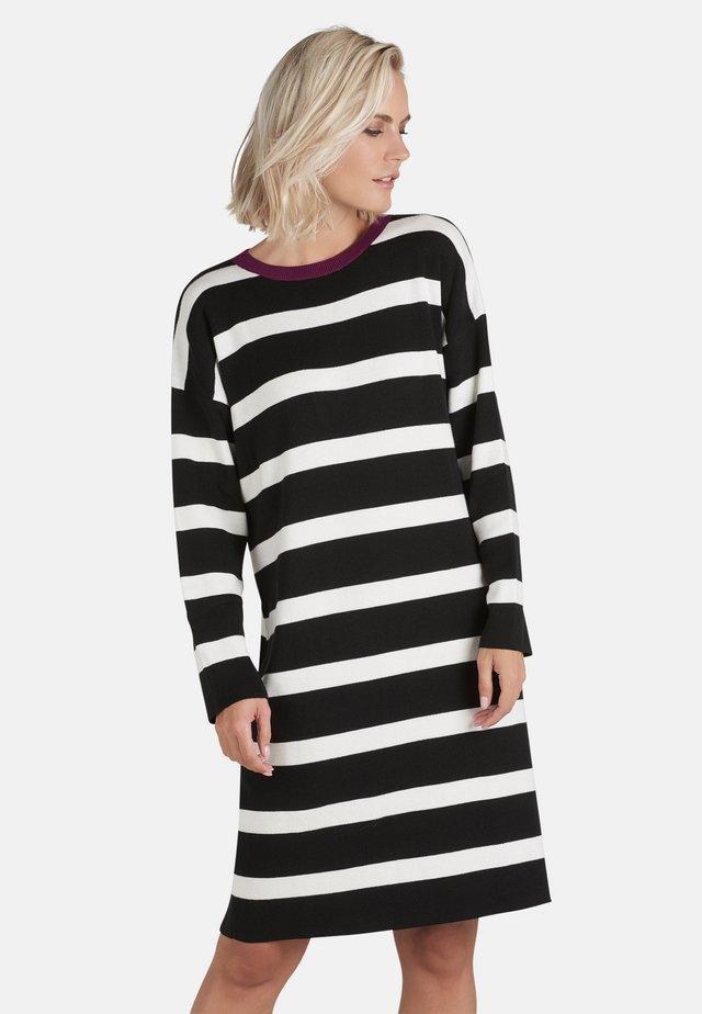 Jumper dress - black/white