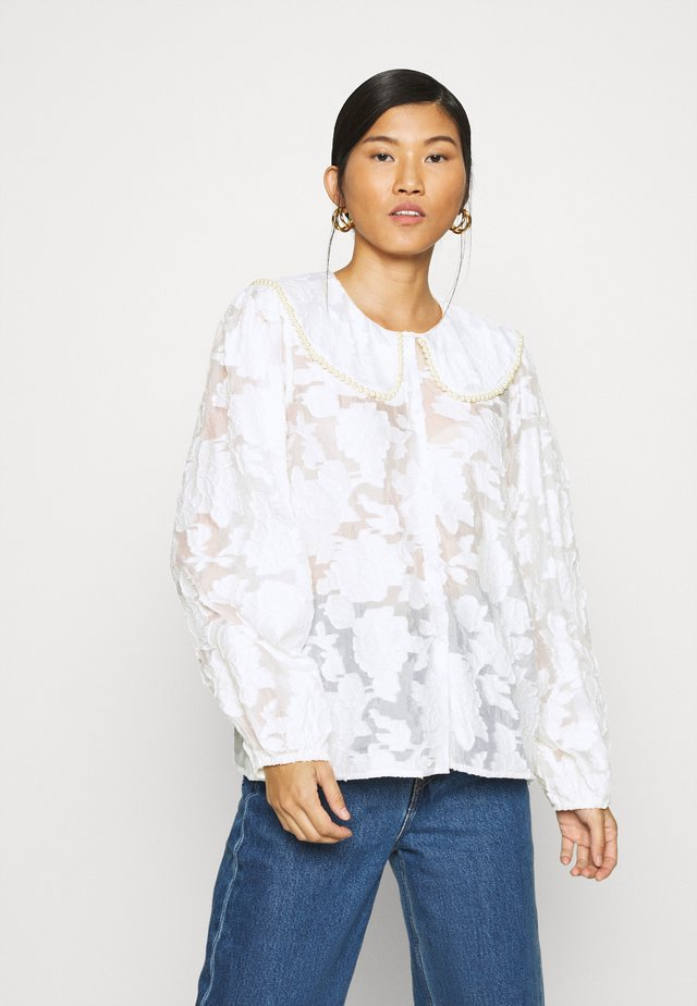 AMY BLOUSE - Button-down blouse - white