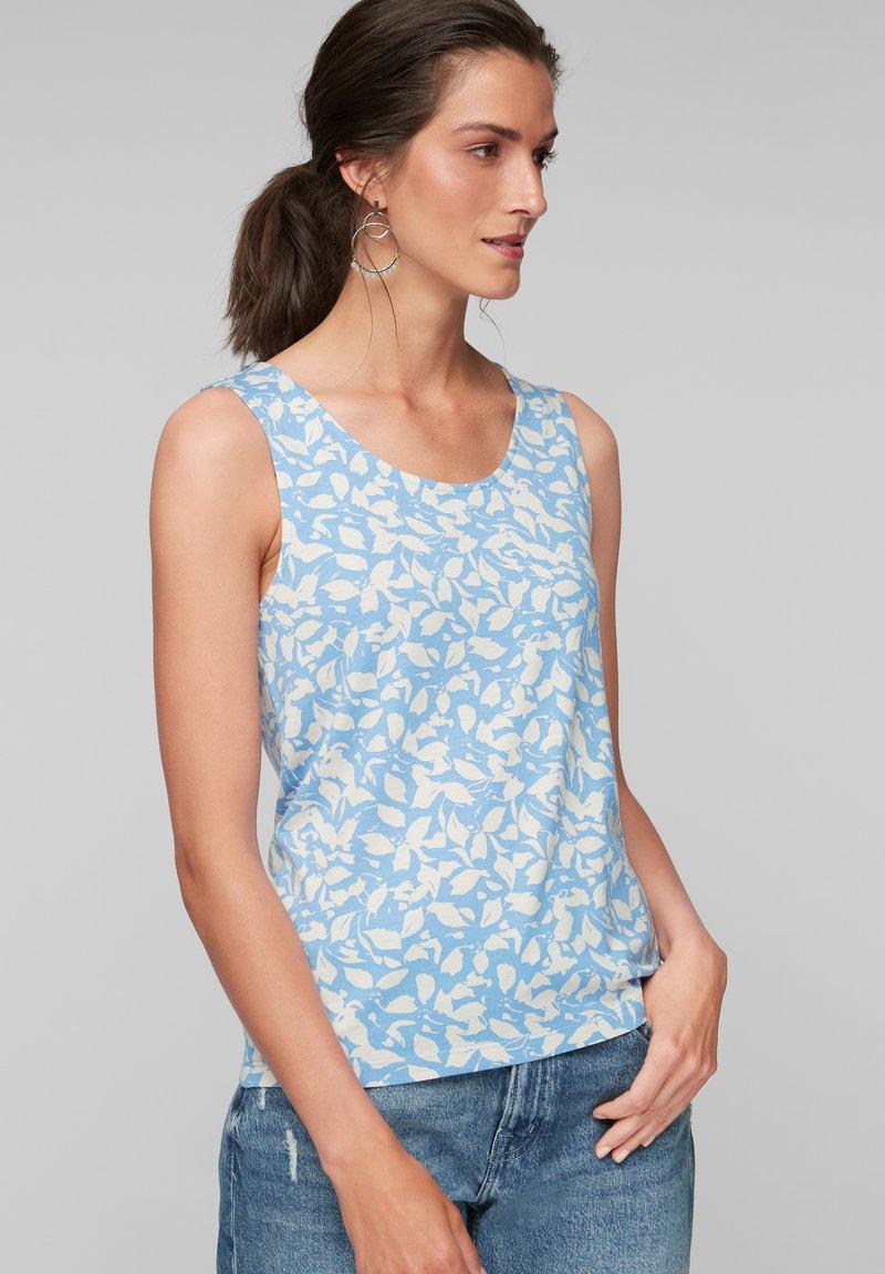 s.Oliver - Débardeur - light blue floral aop