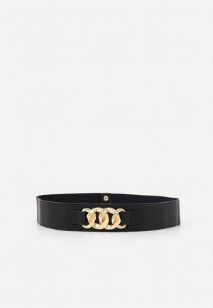 ONLNORA RING BELT - Waist belt - black/gold-coloured