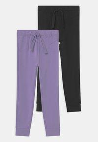 OVS - 2 PACK - Pantalon de survêtement - violet tulip/caviar - 0