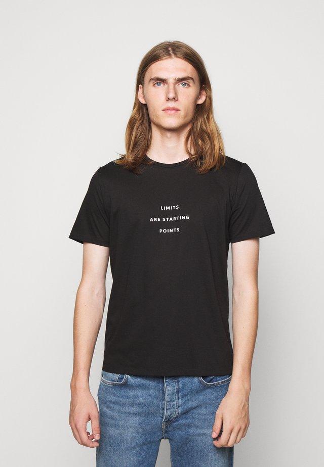 UNISEX MENTA - Printtipaita - black