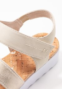 Jana - Platform sandals - pepper/light gold - 2
