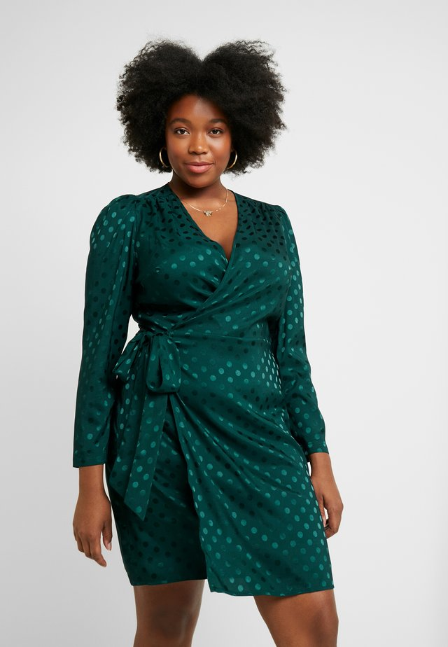 PONDER GARDEN SPOT OPEN BACK SELF TIE WRAP - Day dress - ponder green