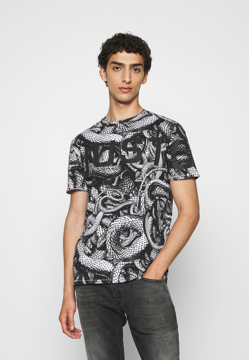 Just Cavalli - Print T-shirt - black/white