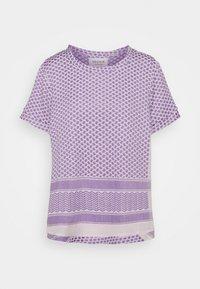 Print T-shirt - lavender fog