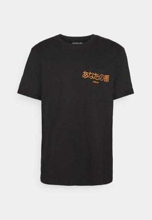POCKET - T-shirt z nadrukiem - black
