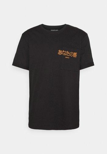 POCKET - T-shirt print - black