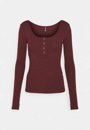 PCKITTE - Long sleeved top - red mahogany