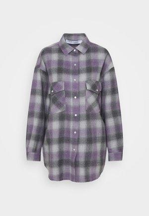 GOWEST - Button-down blouse - purple/grey