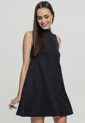 TURTLENECK DRESS - Denní šaty - black