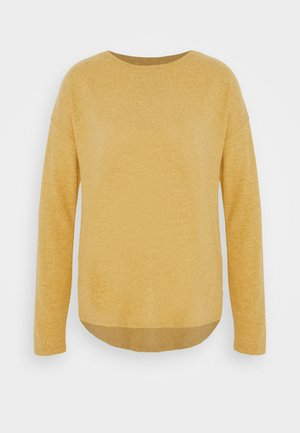 LANGARM - Strikkegenser - golden yellow melange
