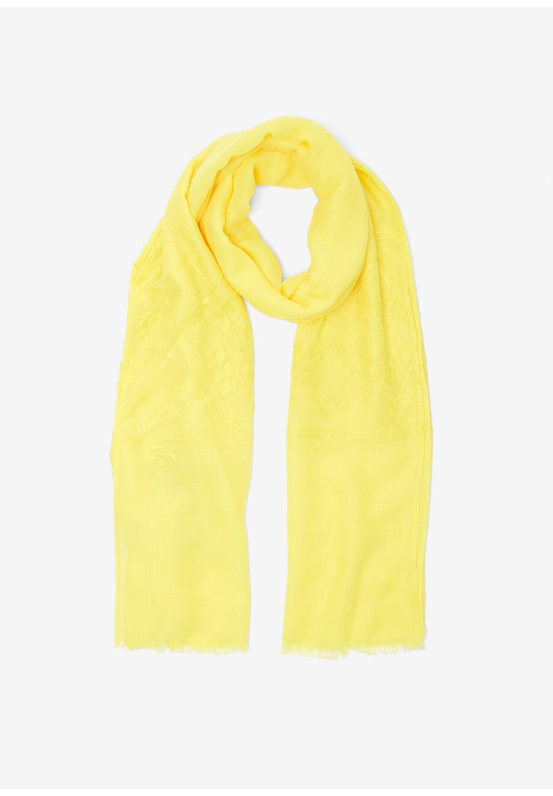 s.Oliver - Embroidery-Muster - Sjaal - yellow