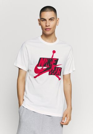 CLASSICS CREW - Print T-shirt - white/gym red/black