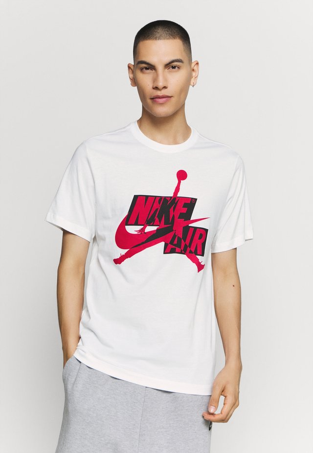 CLASSICS CREW - T-shirt con stampa - white/gym red/black