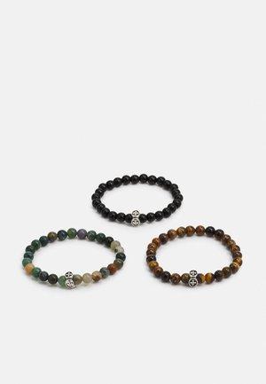 JACBEADS BRACELET 3 PACK - Bracelet - black/multi/brown