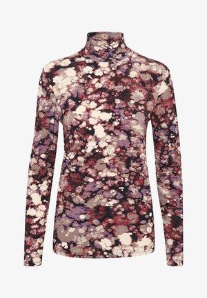 SLHANADI PRINTED ROLLNECK LS - Long sleeved top - brown splash print