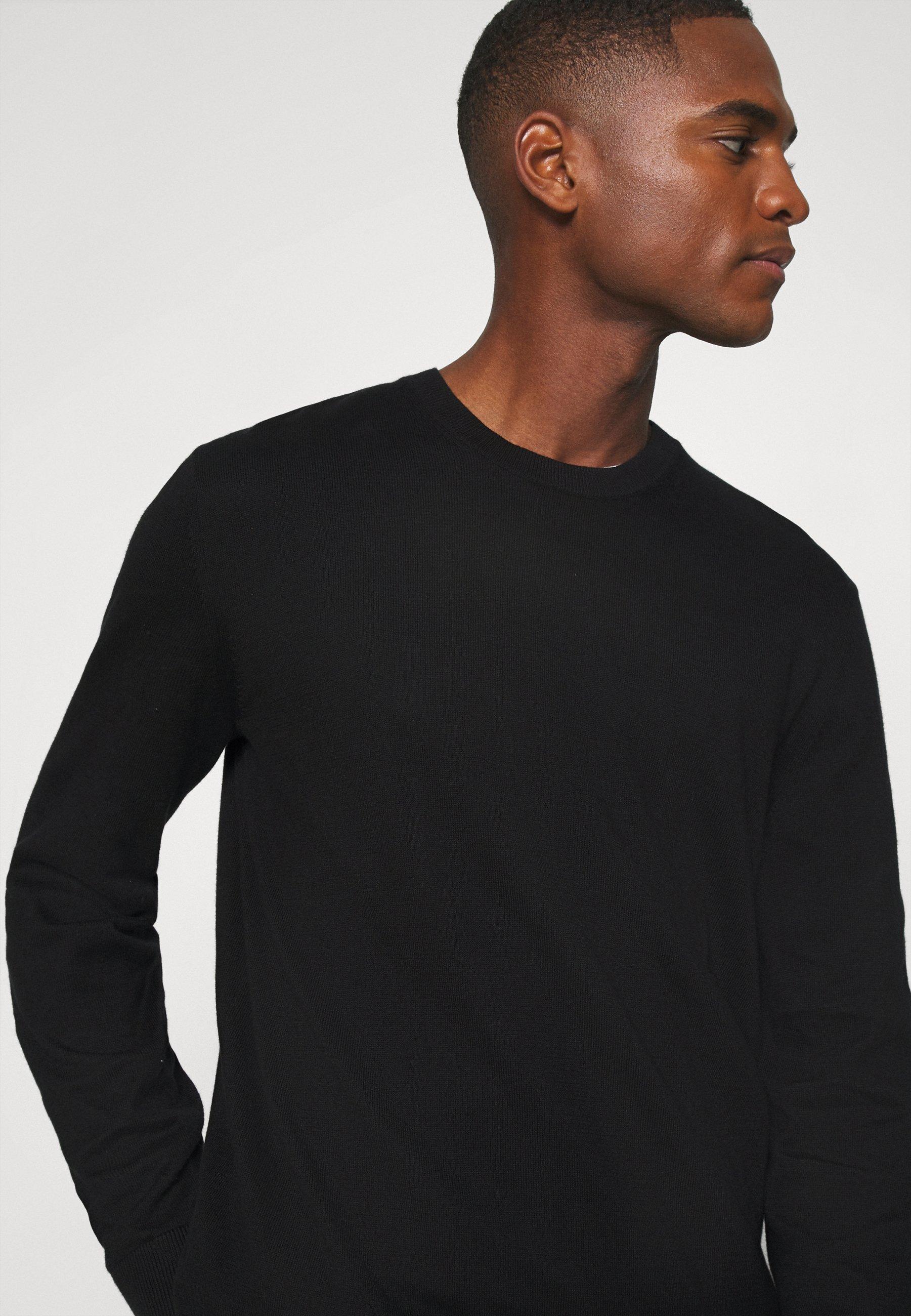 Schott RIDGE Stickad tröja black Zalando.se