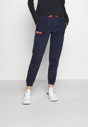 MIXED MEDIA PANT - Spodnie treningowe - blue