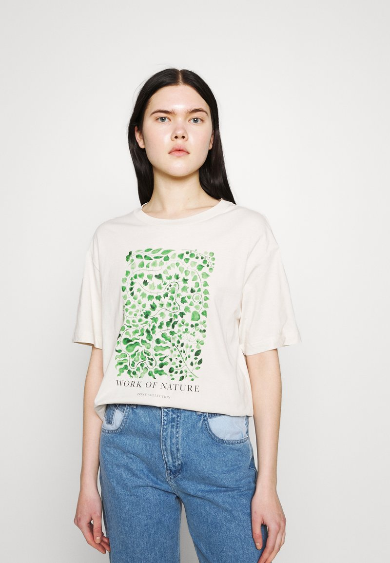 Monki - TOVI TEE - T-shirts med print - white dusty light