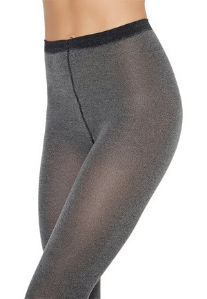 Tights - black-chiné