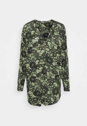 KHAKI FLORAL SHIRT - T-shirt à manches longues - khaki