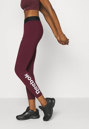 LINEAR LOGO - Leggings - maroon