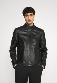 Schott - BIKER - Leather jacket - black - 0