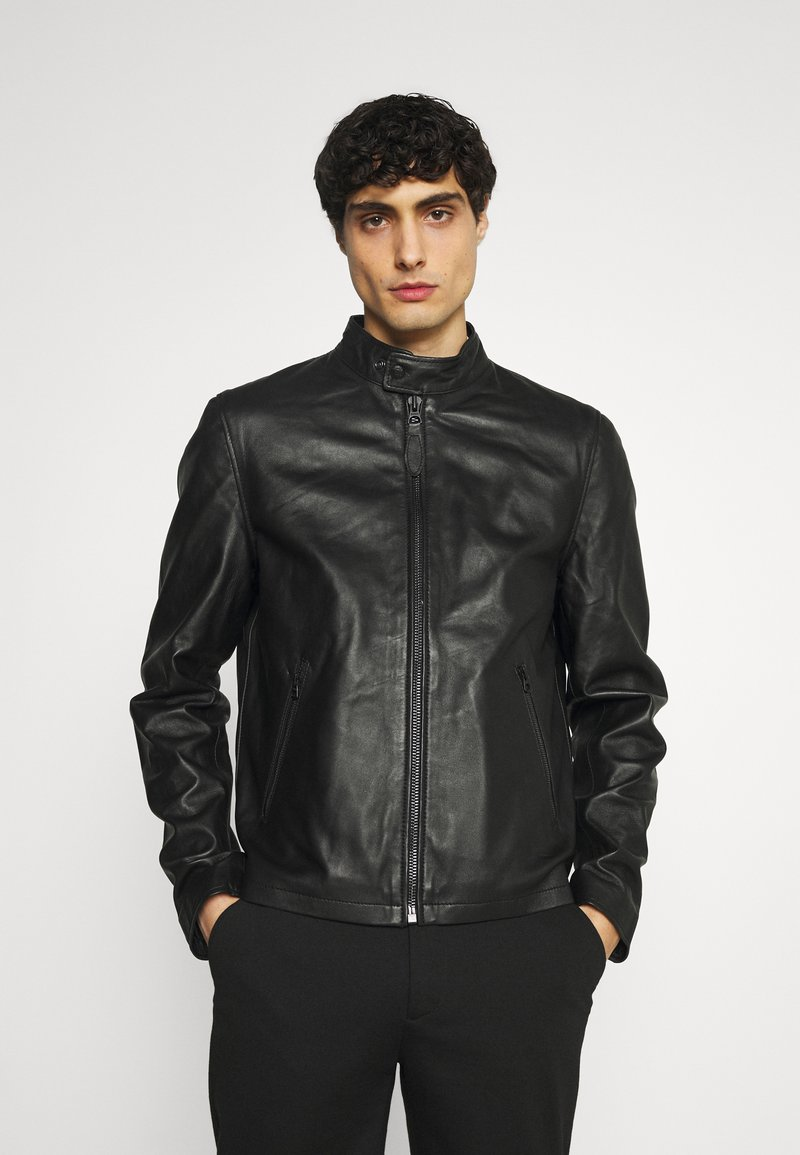 Schott - BIKER - Leather jacket - black