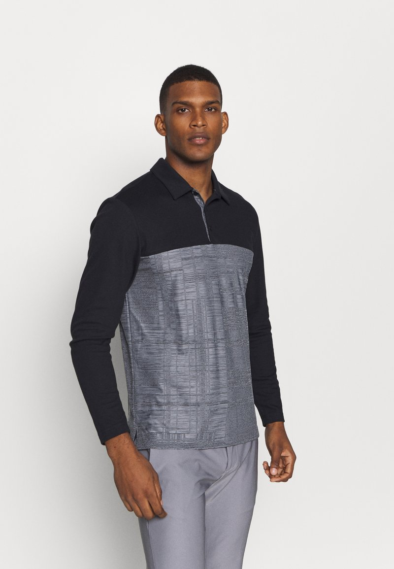 adidas Golf - ADICROSS LONG SLEEVE - Koszulka polo - black